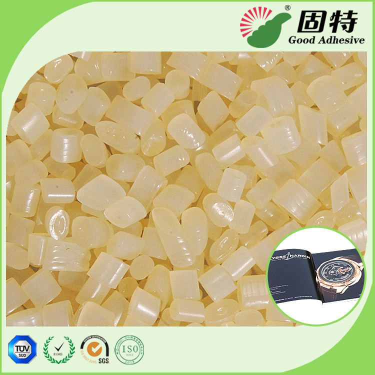 Yellowish Bookbinding Coated Paper Side Glue Hot Melt Pellet EVA Hot Melt Adhesive