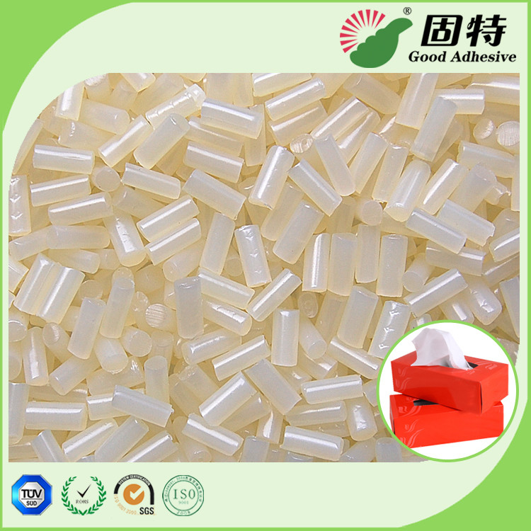 Packaging Tissue Box Sealing Hot Melt Pellets Yellowish Color Strong Adhesive Yellowish granule Hot Melt Glue Adhesive