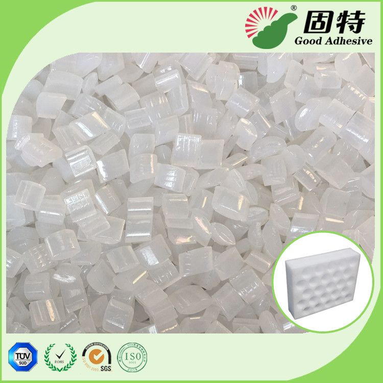 Yellowish EVA resin Granule solid  Packaging Hot Melt Glue Pellets , High Strength Hot Glue Block
